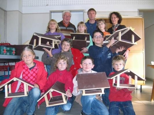 Bastelaktion Vogelhäuser bauen